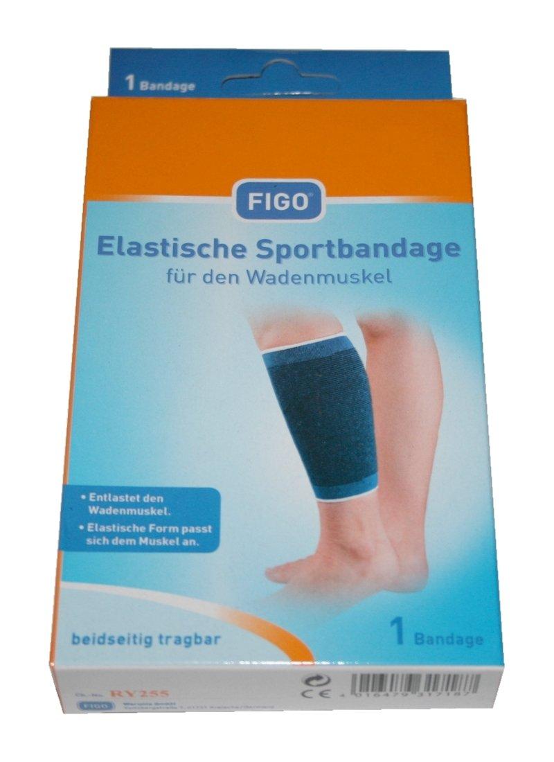Sportbandage für den Wadenmuskel Größe M FIGO (0018): Amazon.de ...