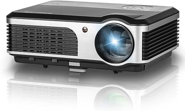Proyector LCD, LED Proyector con 2500lumen 1024 * 600 Resolución 140 Vídeo pantalla HDMI VGA USB SD AV TV Entrada para Home Cinema + Free VGA & HDMI Cable (caiwei A5): Amazon.es: Electrónica