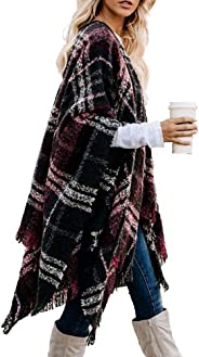 LittleMax Oversize Open Front One Piece Knitted Cardigans Sweaters Outwear Coat Shawl for Women