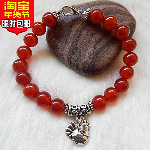 (Dog Black snow agate bracelet national wind jewelry simple retro Lijiang, Yunnan tourist souvenirs trinkets)
