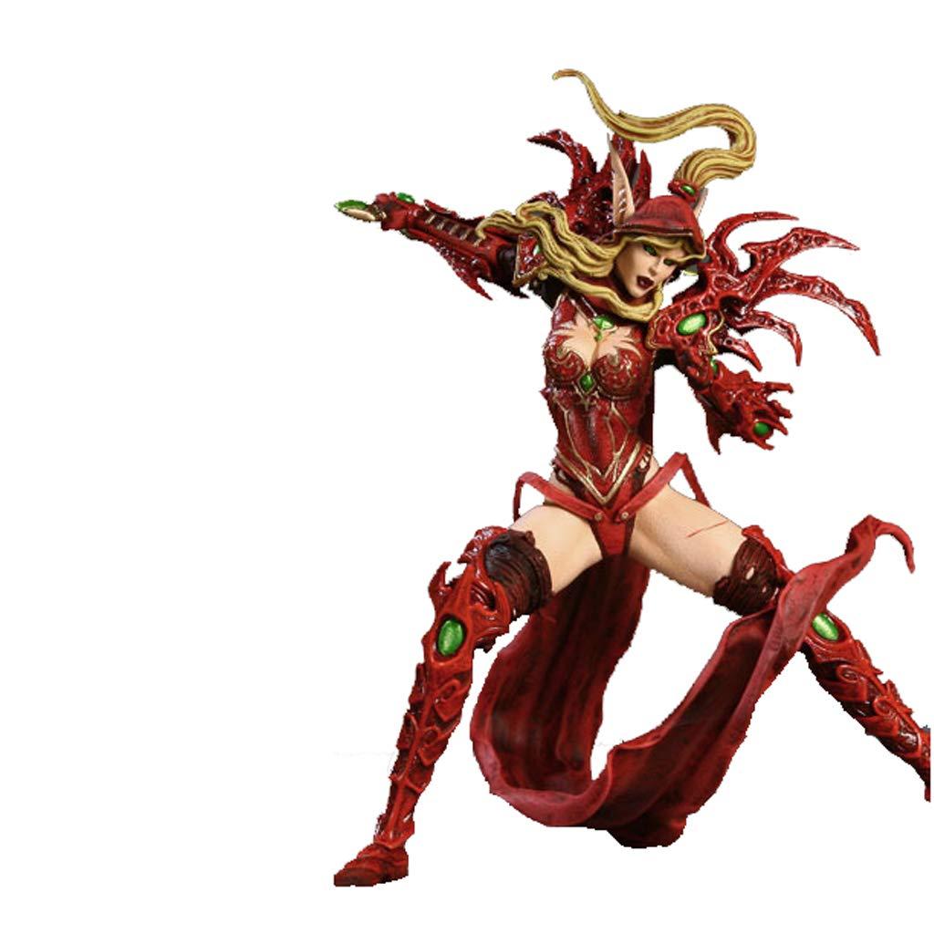 FLYSXP Giocattolo Modello Personaggi Wow World of Warcraft Souvenirs Collectibles Crafts Regalo Elfo sanguigno, ladri Femminile, 14,5 cm