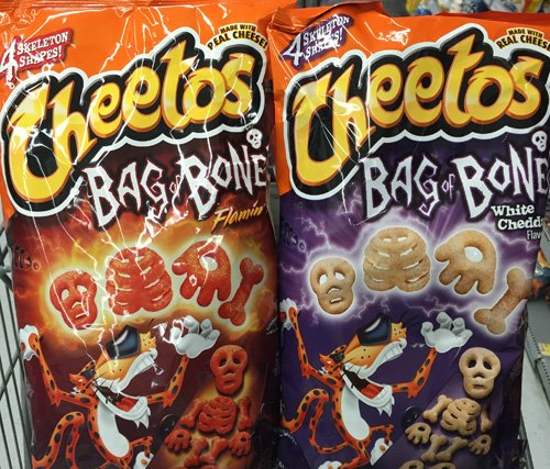 Cheetos limited-edition Cheetos Bag of Bones White Cheddar and Cheetos Flamin' Hot Bag of Bones!! (ONE OF EACH ) by Cheetos