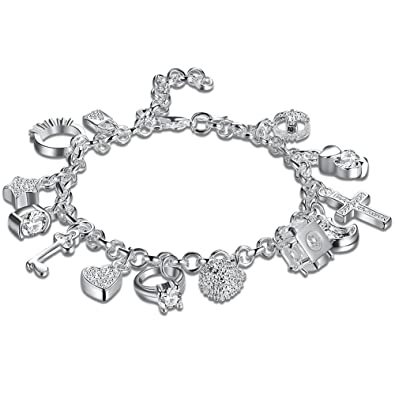 Amazon.com  Daycindy Multi Layer Love Charms Bracelets for Women ... aa909391a41e