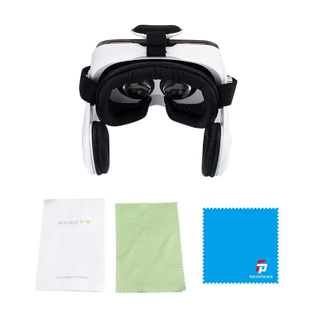 3D VR Glasses 120/°FOV 3D Movie Video Game Private Theater with Headphone Adjustable Focal Distance for iPhone Samsung Android iOS Smartphones BOBOVR Z4 Xiaozhai Z4 BOBOVR VR Virtual Reality Headset w// Controller//Gamepad