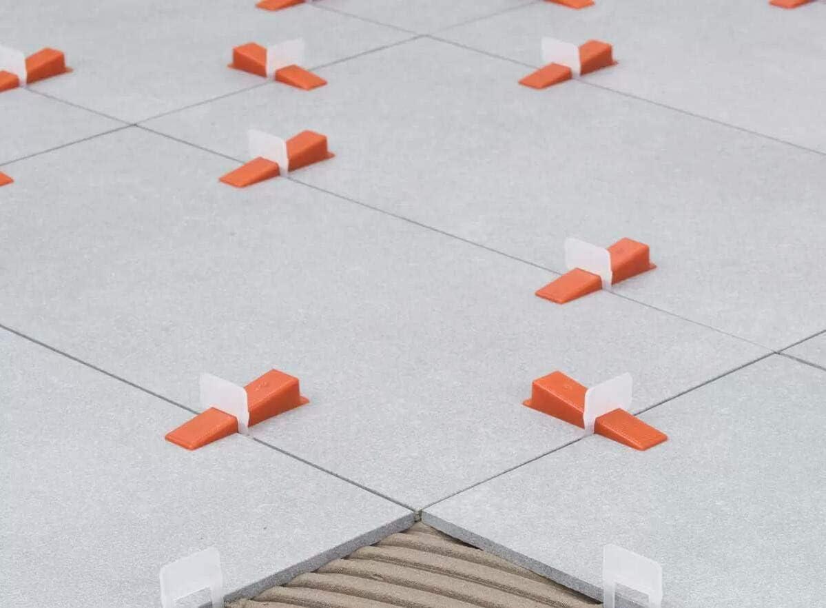 Sistema de nivelaci/ón de azulejos TOPWAY Paquete de 400 piezas Niveladores de 1,5 mm Espaciadores para la construcci/ón de paredes Pisos