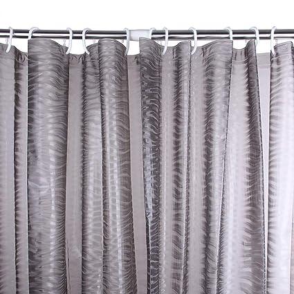 Adwatia Shower Curtain Mildew Resistant 3D Ripple Liner 72