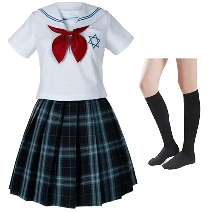 Amazon.com: Falda plisada japonesa para niñas Sailor JK ...