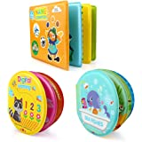 Growsland Baby Bath Toys 3 Pack Bath Books with Bath Squirt Toys Soft Waterproof Books Baby Learning and Sound Bath Time Toys