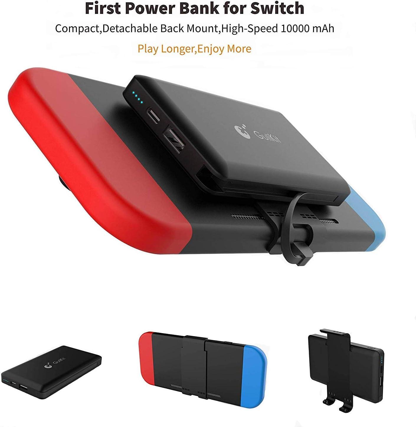 Banco de energía portátil 10000mAh Power Bank para Nintendo Switch Accesorios -Cargador de Baterías recargable extendido Funda -Paquete de batería de reserva de viaje compacto para Nintendo Switch: Amazon.es: Videojuegos