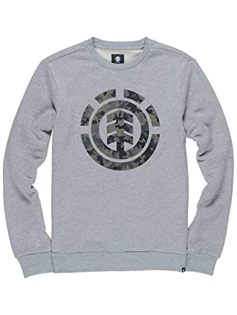 ELEMENT Sudadera Bark Logo Crew Grey Heather (M)