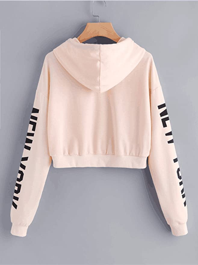 Women Hoodie, Lananas Girls Casual New York Letters Drawstring Long Sleeve Pullover Sweatshirts Tops at Amazon Womens Clothing store: