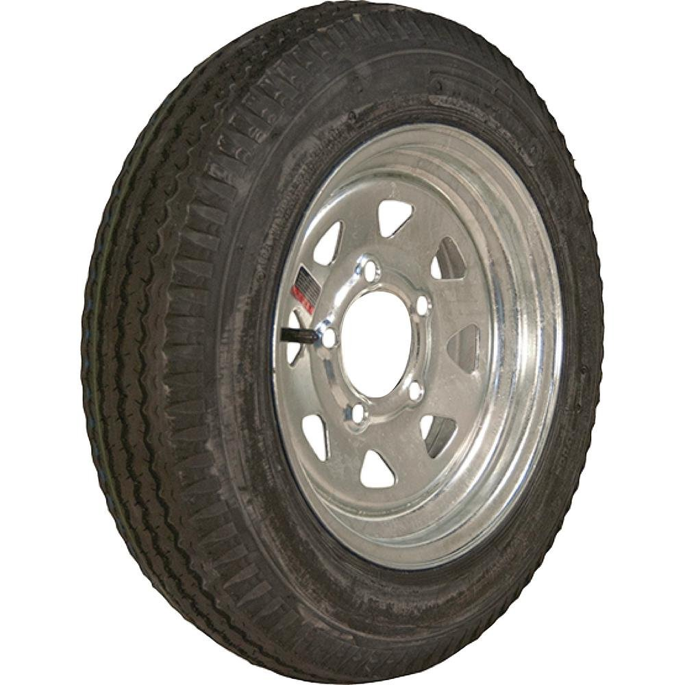 Loadstar 480-12 K353 BIAS 780 lb. Load Capacity Galvanized 12 in. Bias Trailer Tire and Wheel Assembly 30520 and Toucan City LED flashlight by Toucan City (Image #2)