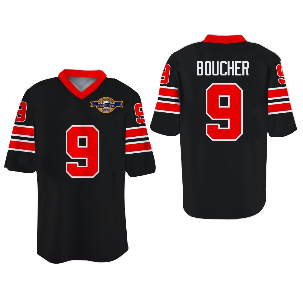 Sandler Bobby Boucher Waterboy Mud Dogs Football Jersey With Bourbon Bowl  Patch (34 61f913f14