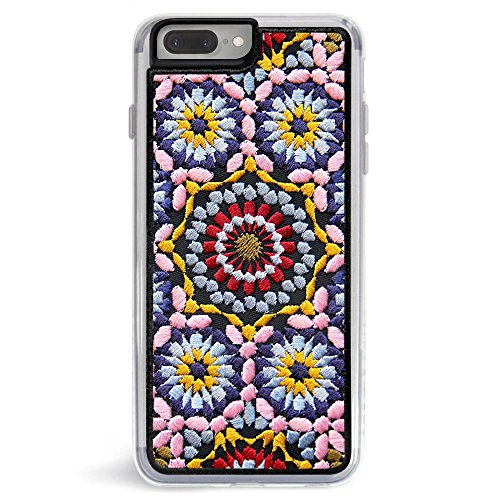 Case Embroidered Phone (Zero Gravity Case Compatible with iPhone 7 Plus/8 Plus - Casbah - Embroidered Design - 360° Protection, Drop Test Approved)