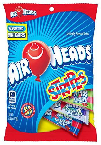 Airheads Candy Variety Bag, Individually Wrapped Assorted Striped Fruit Mini Bars, Stocking Stuffer, Gift, Holiday, Christmas, 6.08 Ounce (Bulk Pack of 12) -