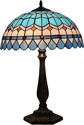 Odziezet Lámpara de Mesa 16 Pulgadas Estilo de Tiffany Europea ...