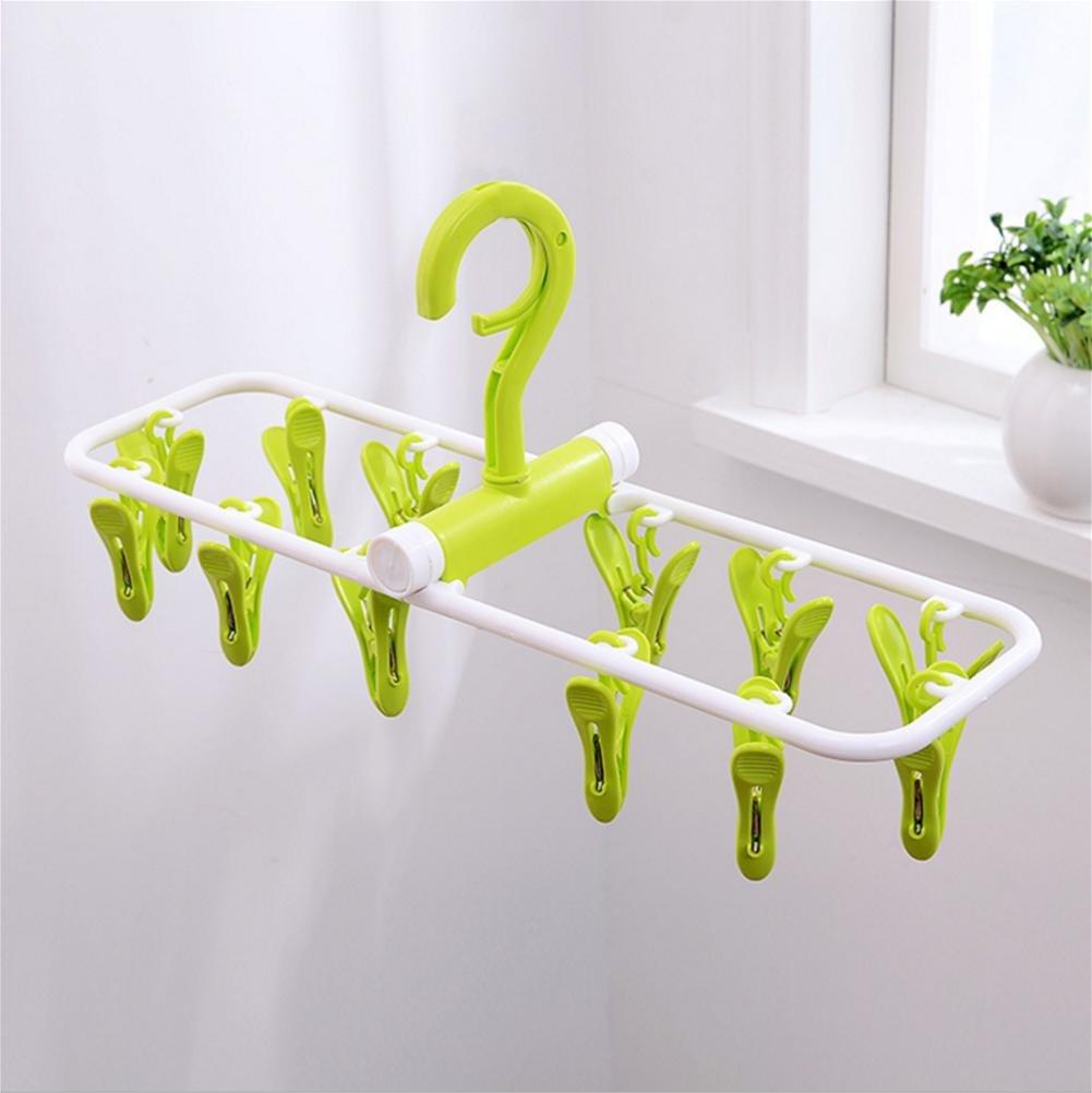 fdgfh yijia 2 pcs Portable Clothes Hanger Folding Plastic Drying Travel Rack Cloth Hanger clips, 2