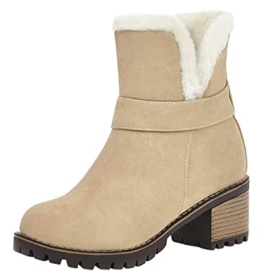 women large size snow boot warm chunky