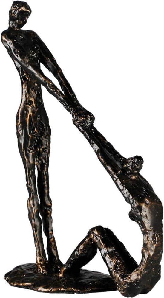 LPQA Estatua Escultura Adornos De Hierro Fundido, Escritorios, Estanterías, Muebles De Escritorio, Sala De Estar, Decoraciones Suaves
