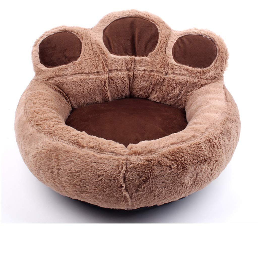 Brown X-Large Brown X-Large Four Season Suede Pet Bed Fully Detachable Design, Non-slip Cat Litter Thick Warm Pet Supplies, Four colors Optional SMBYLL (color   Brown, Size   XL)