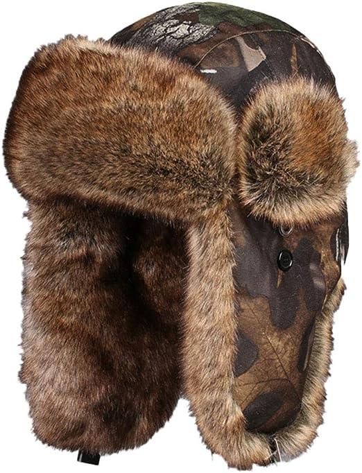 Herren Damen Uschanka Warm Hut Wintermütze Russenmütze Fliegermütze Trappermütze