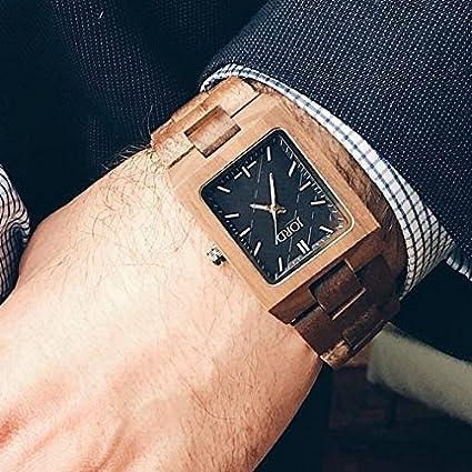 Jord madera muñeca relojes para hombres o mujeres - Reece - Serie/madera/madera Bisel/movimiento de cuarzo analógico de banda reloj - incluye caja de madera ...