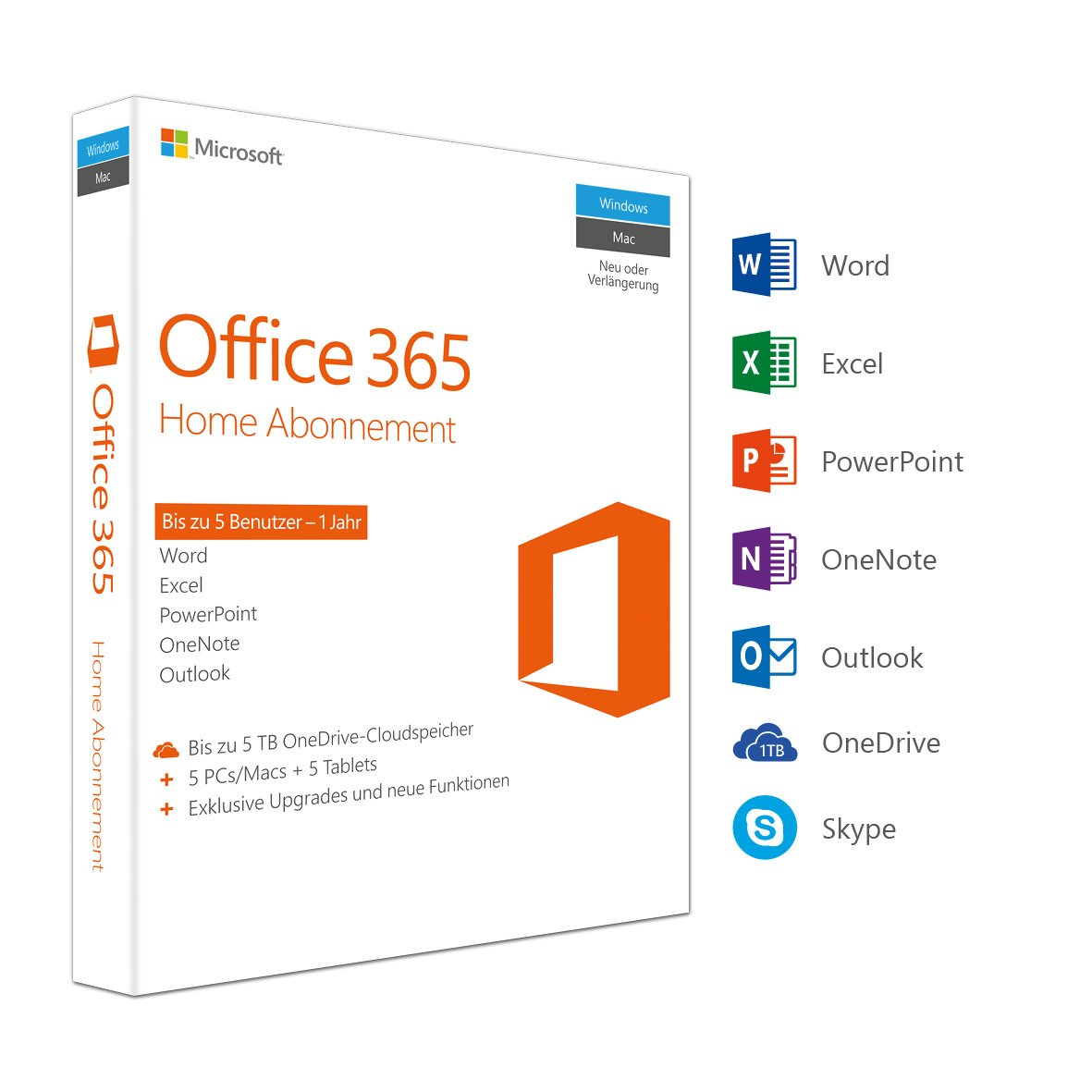 Microsoft Office 365 Home multilingual | 5 Geräte | 1 ...