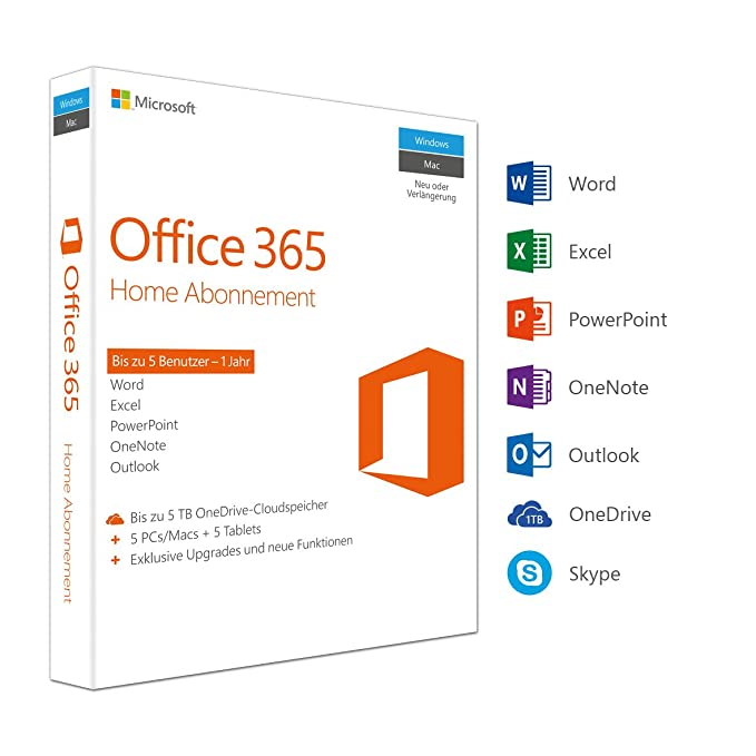Microsoft Office 365 Home multilingual | 5 Geräte | 1 ...