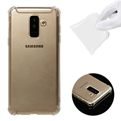 CoverTpu Funda Samsung Galaxy A6 Plus 2018 Transparente ...