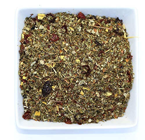 Tealyra - Root Beer - Green Rooibos - Strawberry Leaves - Licorice - Honeybush - Unique Herbal Loose Leaf Tea - Caffeine Free - All Natuaral - 112g (4-ounce)