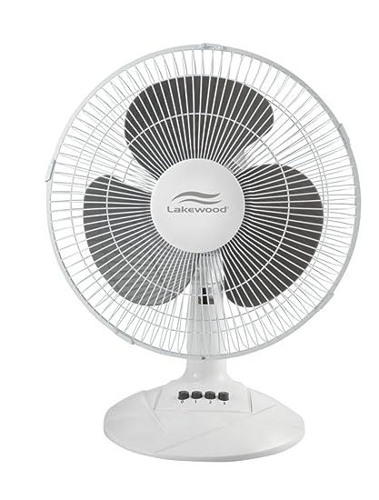 Charmant Lakewood Oscillating Table Fan, 12 Inch (LDF1210B WM)