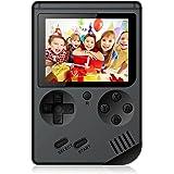 Rongyuxuan Console de Jeu Portable, Console de Jeu 3 Pouces 168 Jeux Console de Jeux vidéo rétro avec Un Lecteur USB pour Enfants Parents Amis