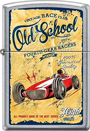 Zippo Old School Vintage Fourth Gear Race Club Street Chrome WindProof Lighter by Zippo