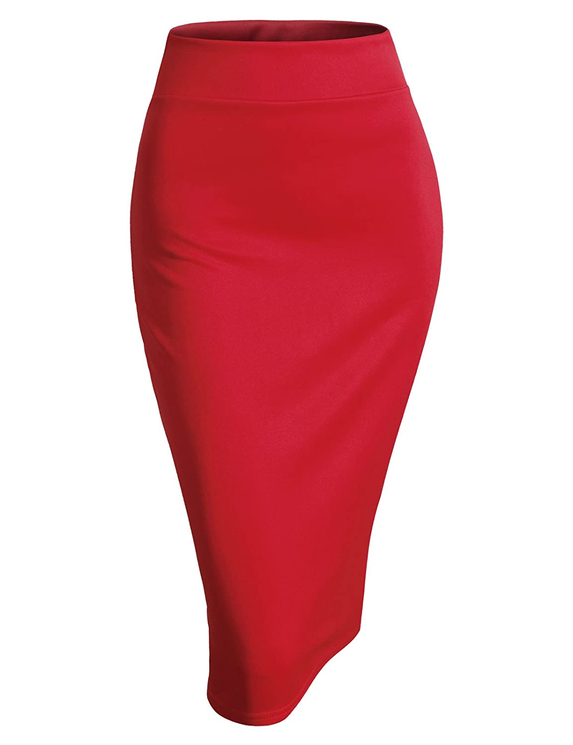 H2H Womens Casual Pencil Skirt Business Office Versatile Stretchy Elastic Waist Band #AWBMS0188