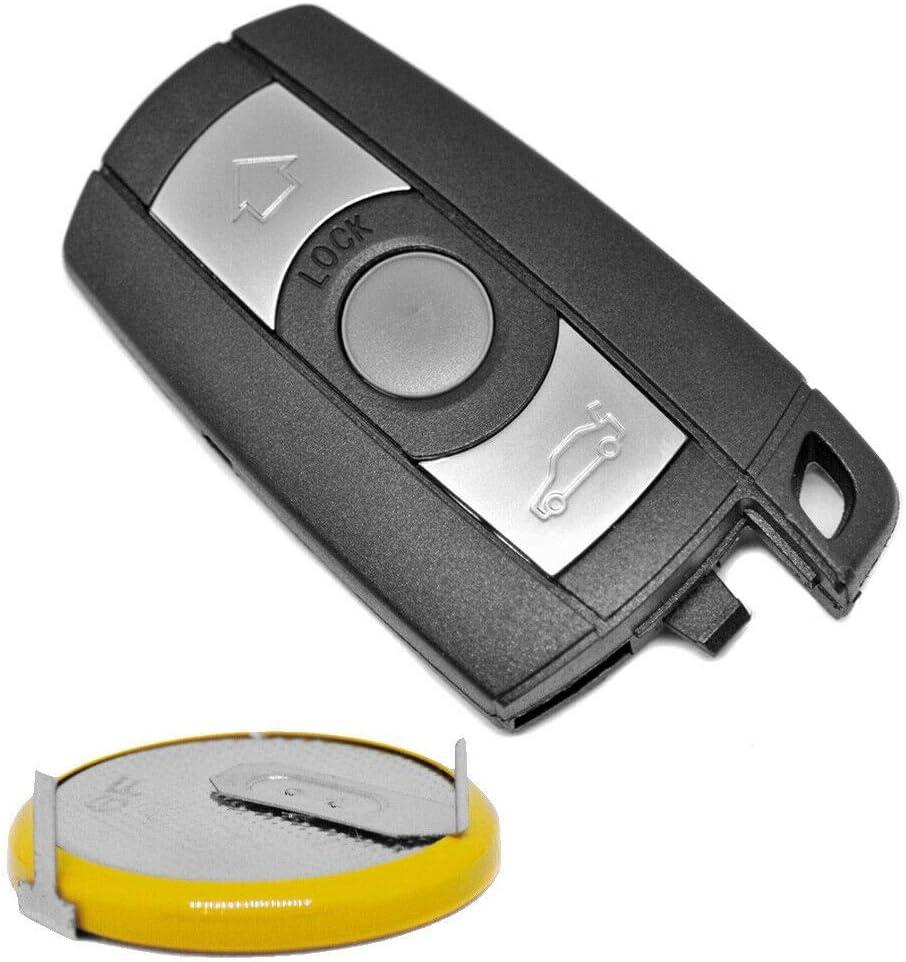 Auto Schlüssel Funk Fernbedienung Smartkey 1x Gehäuse 3 Tasten 1x Lir2025 Akku Batterie Für Bmw