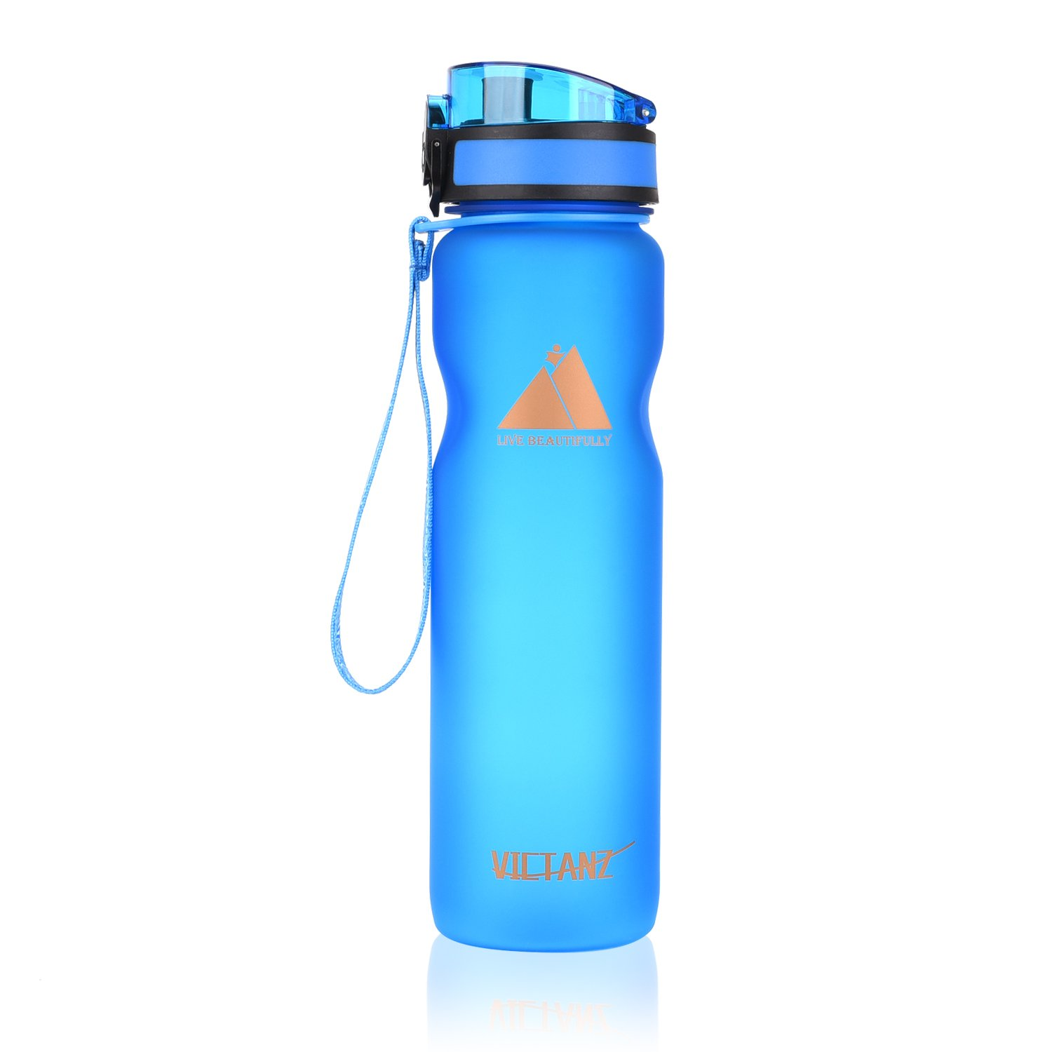 Fast Flow Open with 1-Click Victanz Sports Water Bottle 1 liter//1000ml//32oz Large Drinking Bottles with Filter 100/% BPA Free Eco-Friendly Tritan Co-Polyester Plastic Leak Proof