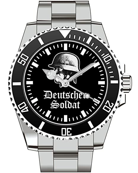 Soldado alemán Stahlhem Honor patria rica WH - 1785 reloj