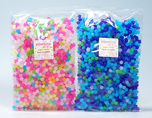 Konpeito Japanese Tiny Sugar Candy Crystal (2 Big bags. Total 1000g (2.2 lbs)) by Candy Assortments (Image #1)