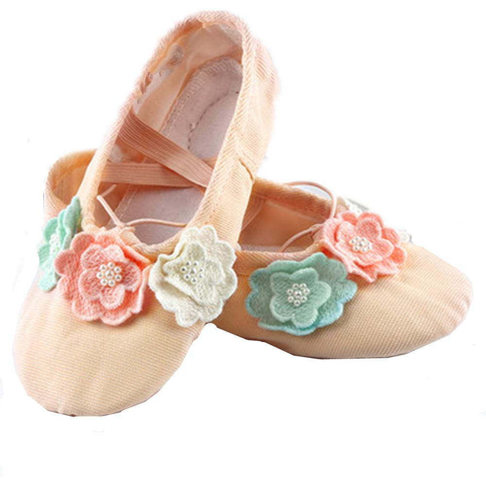 satisfied Leather Ballet Practice Shoes Flower Yoga Shoes for Dancing