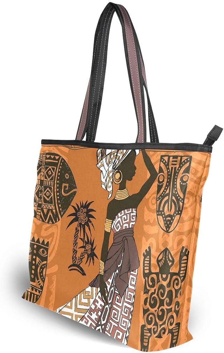 My Daily Women Tote Shoulder Bag Beautiful African Woman Handbag