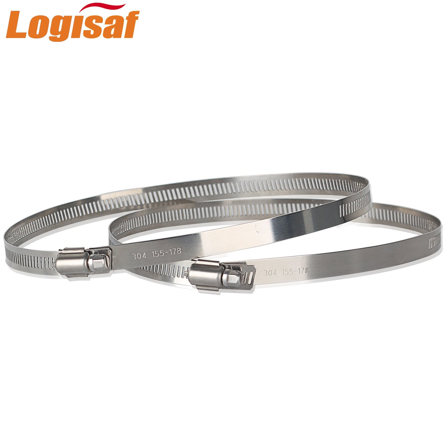 Logisaf 4pcs 18mm to 32mm Adjustable Worm Drive Tube Clip Ring Fastener 304 Stainless Steel Pipe Hose Clamp Hoop Cloud Mall CM-D021