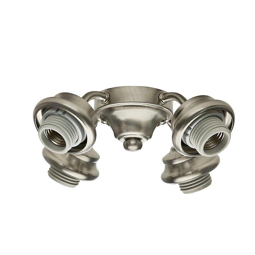 Casablanca 99103 4 Light Arm Fitter, Brushed Nickel