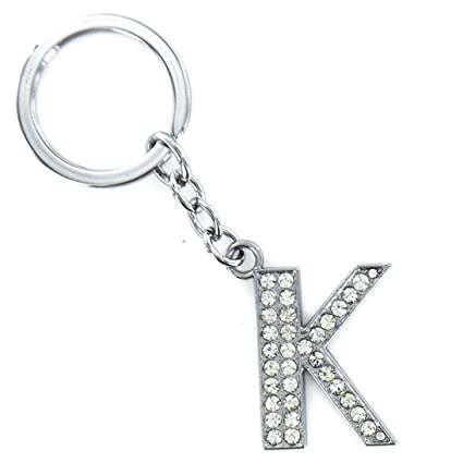 Amazon.com : Iuhan Keyring A-Z Initials Letter Key Ring ...