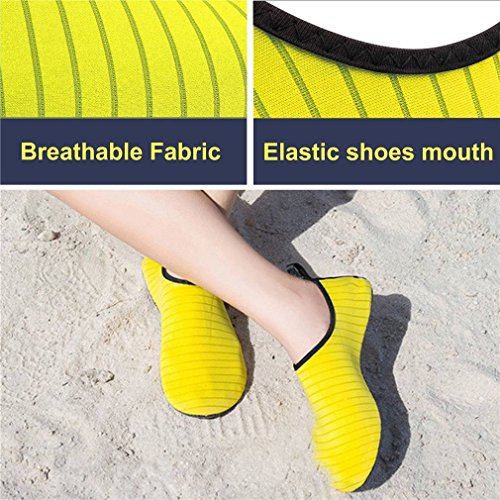 Yoga Unisexe Respirant Chaussure Jaune Bigood d'eau Chausson Plage Sport Nager qRWIwpB
