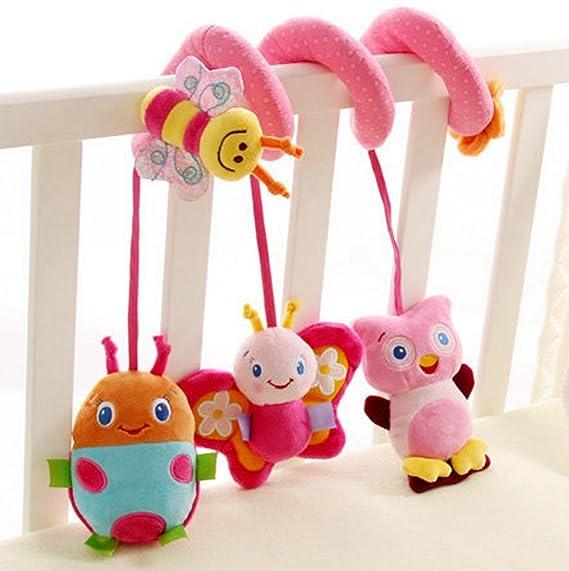 Happy Cherry Espiral de Actividades Sonajero Musical con Sonidos Música Colgante Multicolor Insectos para Bebés Recién Nacidos Niños Carrito Cochecito ...