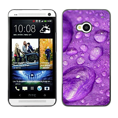 Soft Silicone Rubber Case Hard Cover Protective Accessory Compatible with HTC ONE M7 2013 - Plant Nature Forrest Flower 31
