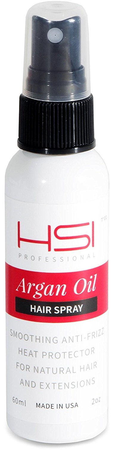 HSI PROFESSIONAL Argan Oil Heat Protector | Protect up to 450º F from Flat Irons & Hot Blow Dry | Sulfate-Free, Prevents Damage & Breakage | Made in the USA | 2oz, Packaging May Vary