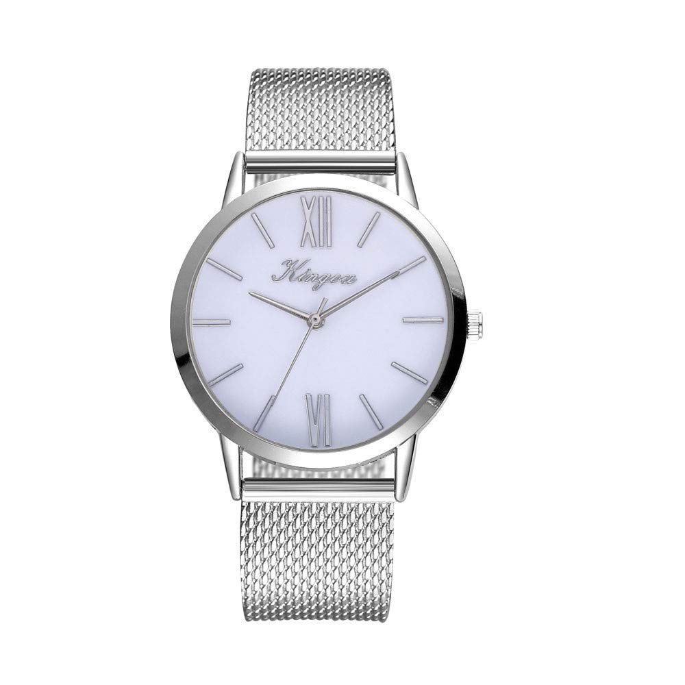 Womens Watches On Sale, VANSOON Ladies Casual Quartz Silicone Strap Band Watch Analog Wrist Watch Teen Girls Dress Simple Luxury Bracelet Watches Gift Clearance