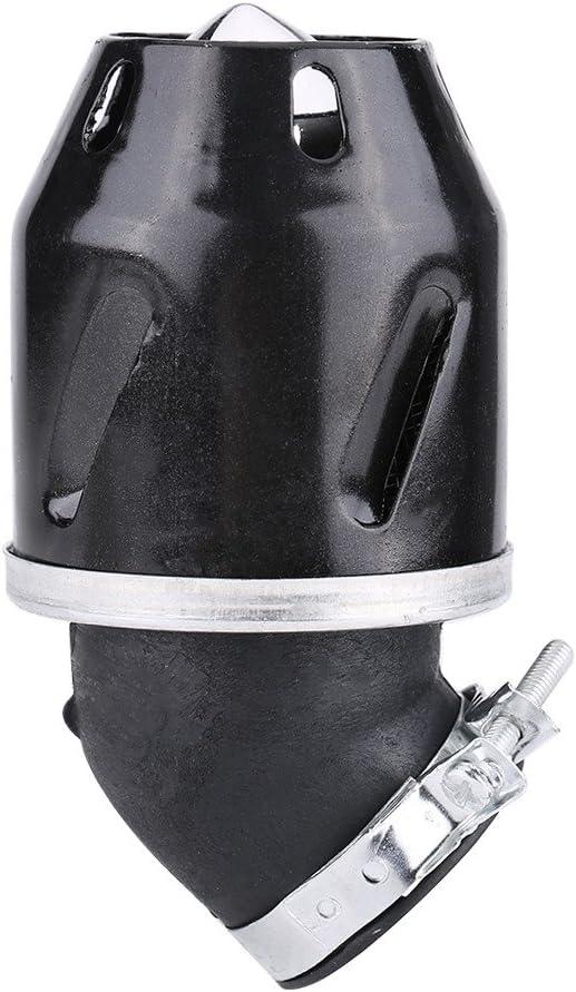35mm Luftfilterreiniger Geruchsreduzierung Ansaugstutzen f/ür Motorroller ATV Dirt Schwarz Motorrad Luftfilter