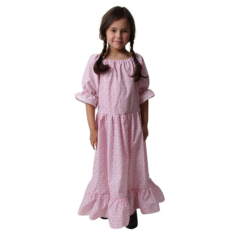 Amazon.com: Girls Calico Print Floral Pioneer Dress (Choose Size ...